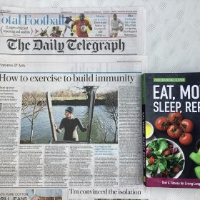The Daily Telegraph features Michael Gleeson & 'Eat, Move, Sleep, Repeat'