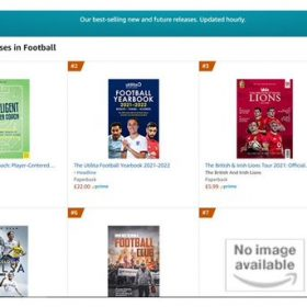 Pre-Order Release TOPS Amazon UK 'Hot New Releases in Football' charts