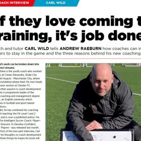 Carl Wild – Soccer Coach Weekly interview, Part 1